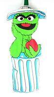 "Vintage RARE Sesame Street Hanging Plush Oscar Grouch Muppets Inc Trash Can 18"""