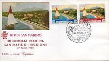 San Marino 1960 FDC Faip-Capitolium Fiera Int.le Filatelica San Marino-Riccione