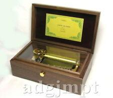 BRAND NEW Music Box ORPHEUS All Walnut box 50 note Canon 3 parts Sankyo Japan