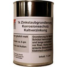 Zinkstaubfarbe, Zinkstaubgrundierung, Kaltverzinkung, grau, 1 Liter