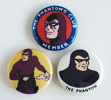 The Phantom FRIDGE MAGNET Set (1.25 inches each) Ghost Who Walks Lee Falk