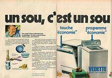 PUBLICITE ADVERTISING 014  1978   VEDETTE  lave vaiselle lave linge  ( 2 pages)