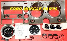 FORD FALCON  XY GT GS DASH FACIA KIT WITH GAUGES & POD & 8000 RPM TACH