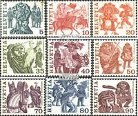 Schweiz 1100A w-1108A w (kompl.Ausgabe) postfrisch 1977 Volksbräuche