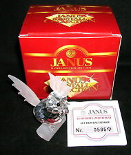 Janus Kristall Collection 1995 Kristallfigur Hahn mit Zertifikat