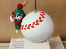 BASEBALL STAR HALLMARK ORNAMENT 2018 PERSONALIZE WITH STICKERS INCLUDED NEW