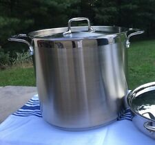 All-Clad Gourmet Accessories 16-Qt Stock Pot w/ Lid Very Good Condition