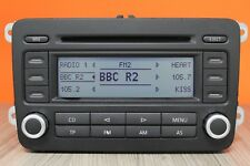 VW VOLKSWAGEN RCD 300 CD RADIO PLAYER AND CODE GOLF PASSAT CADDY JETTA TOURAN