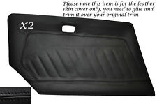 BLACK LEATHER 2X DOOR CARD LEATHER SKIN COVER FITS DATSUN 240Z 260Z 280Z