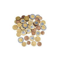 Learning Resources Set of 100 Mixed Euro Coin Assortment Play Money NEW