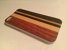 Apple Iphone 5 5S cover case hard back real sandal wood wooden solid oak brown