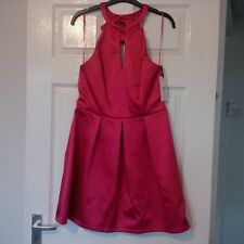BNWT Lipsy Ariane Grande Hot Pink Bow Back Skater Dress - size 10
