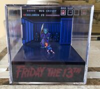 Friday The 13th 3D Cube Handmade Diorama - Shadowbox - Nintendo NES - Fanart