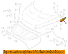 HYUNDAI OEM 12-17 Veloster Hood-Hinge Right PASSENGERS 791202V000