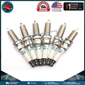 Set of 6Pcs Spark Plugs For INFINITI G37 2008-2013 NISSAN 370Z 2009-2016