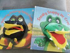 Snake & Crocodile Puppet Books