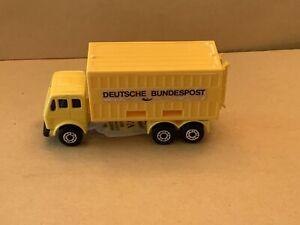 """Matchbox Superfast No. 42 Mercedes Container Truck """"Deutsche Bundespost"""" Labels"""