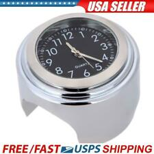7/8 Universal Chrome Motorcycle Waterproof Handlebar Mount Clock black USA