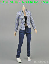 "1/6 Women Plaid Shirt Tank Top Jeans For PHICEN Hot Toys Kumik 12"" Figure ❶USA❶"