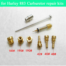 Carburetor Repair Kit 185 190 195 Main Jet & 42 45 48 Pilot Jet For Harley-883