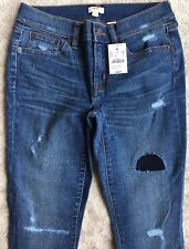 NWT J.CREW Toothpick Ankle Stretch Jeans Size 25 Style C7846