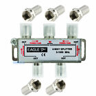 4 WAY DIGITAL TV 5-1000MHz AERIAL SAT FREEVIEW F PLUG COAX SIGNAL CABLE SPLITTER
