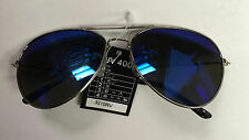 Aviator Laser Lens Blue Purple Tint Lens Shades Sunglasses UV 400