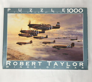 Vintage Robert Taylor Wings of War D Day Airborne Assault Puzzle 26.75 x 19