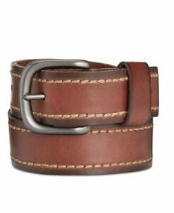 Levi's Men's Leather Stitched Casual Belt, Brown