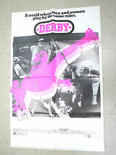 Derby One Sheet Movie Poster 1971