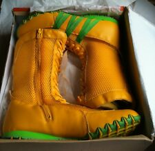 BULLION CLASSIC HIGH BOXING BOOTS 50190R YELLOW / GREEN SIZE 6(37)