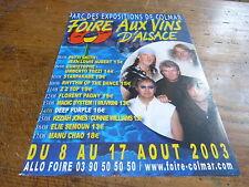 DEEP PURPLE - Publicité de magazine / Advert FOIRE AUX VINS !!!!!!!
