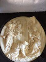 Studio Dante Di Volteradici Alabaster Plate Adorazione Dei Magi (Adoration of)