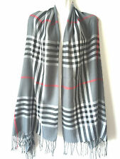 New Women Blanket Oversized Tartan Scarf Wrap Shawl Plaid Cozy Checked Pashmina