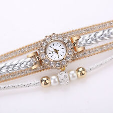 Women Watches Fashion Vintage Weave Wrap Quartz Wrist Watch Bracelet For Ladies