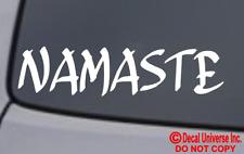 NAMASTE Vinyl Decal Sticker Car Window Wall Bumper Yoga Hindu Greeting Bow Love