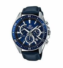 Casio EFR552L-2A Edifice Chronograph Blue, Leather Watch 10 ATM RRP $229