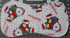 New Flannel Burp Cloths Large Soft Double Layer Handmade Christmas Winter Bear