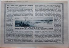 1915 WWI WW1 PRINT GRENADES RIFLES & HAND DIAGRAMS SERVICE RIFLE JAM TIN GRENADE