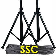 Speaker stands 2x carrying bag adjustable height DJ pro audio