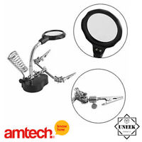 Magnifier Set Helping Hand  Soldering Iron Stand LED watch repair amtech S2885