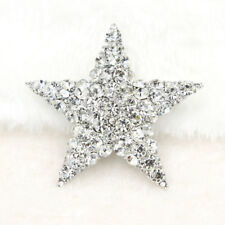 Clear Glass Rhinestone Stunning Star Brooch Pin Wedding Bridal Brooch Jewelry