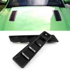 2x Carbon Fiber Style Car SUV Engine Hood Vent Louver Cooling Intake Panel Cover