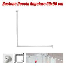 Bastone Asta Tubo per Tenda Doccia e Vasca 90x90 cm colore bianco