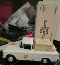 Rare 1:25 Scale ERTL1955 Pickup Truck Bank Shell Oil Mint in Box