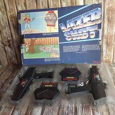 LAZER SHOT by RADIO SHACK VINTAGE ELECTRONIC TOY GUNS - TESTED & WORKING RETRO