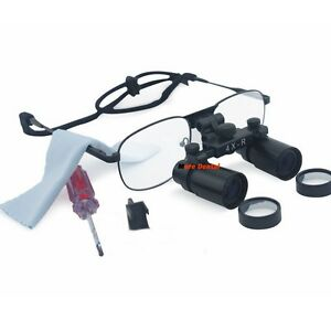 Dental 4X 360-460mm Loupes Medical Surgical Binocular Glasses Dentist Magnifier