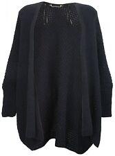 Neues AngebotEX STORE Mutterschaft Waffel Strick Fledermaus Cardigan navy blau