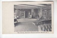 The Library Seamen's Church Institute Newport  RI