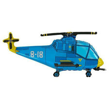 Helicopter Gun Ship Blue Large Foil Balloon 76 cm Birthday Party Event Decor